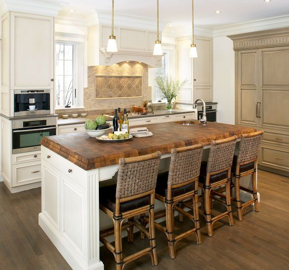 Grothouse Butcher Block Countertops | This Old House® Newtown, MA Project  2007