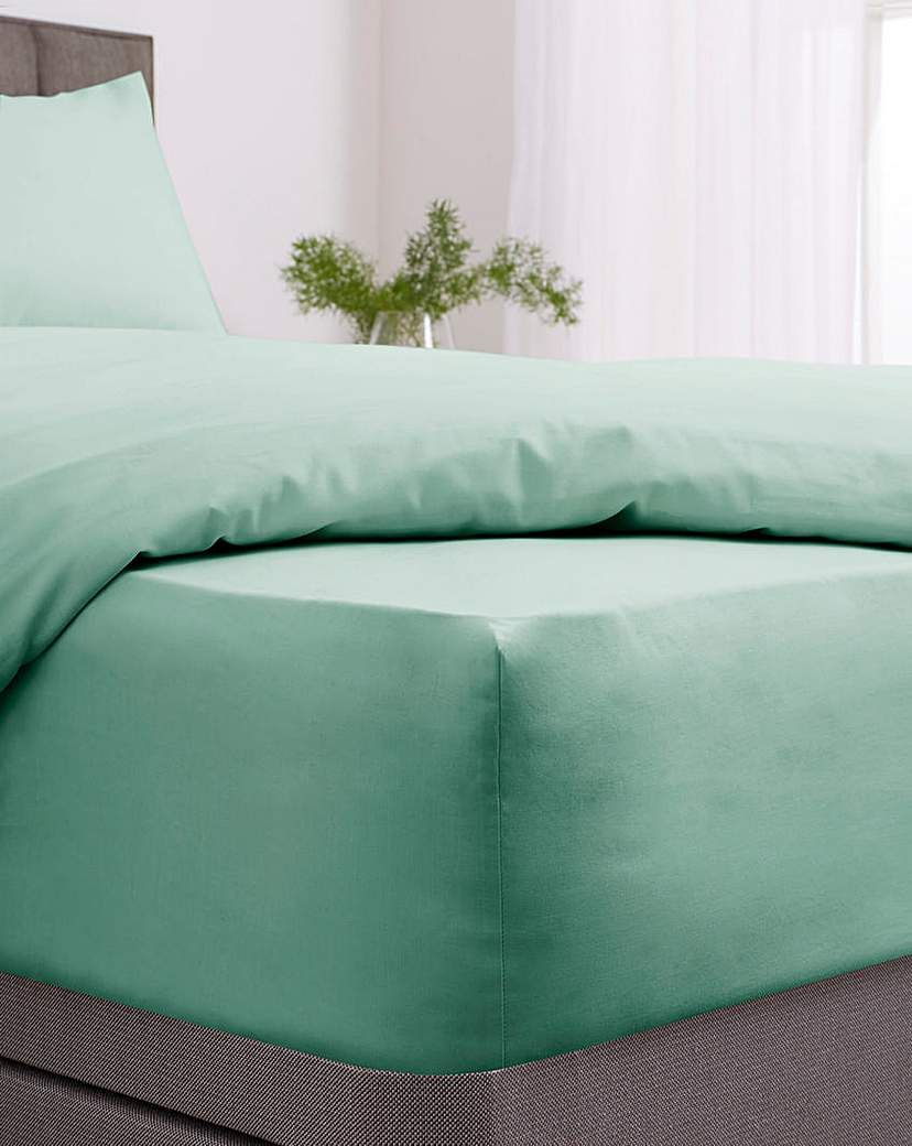 Easy Care Plain Dye Fitted Sheet In 2021 Fitted Sheet Beautiful Easy Modern Colors