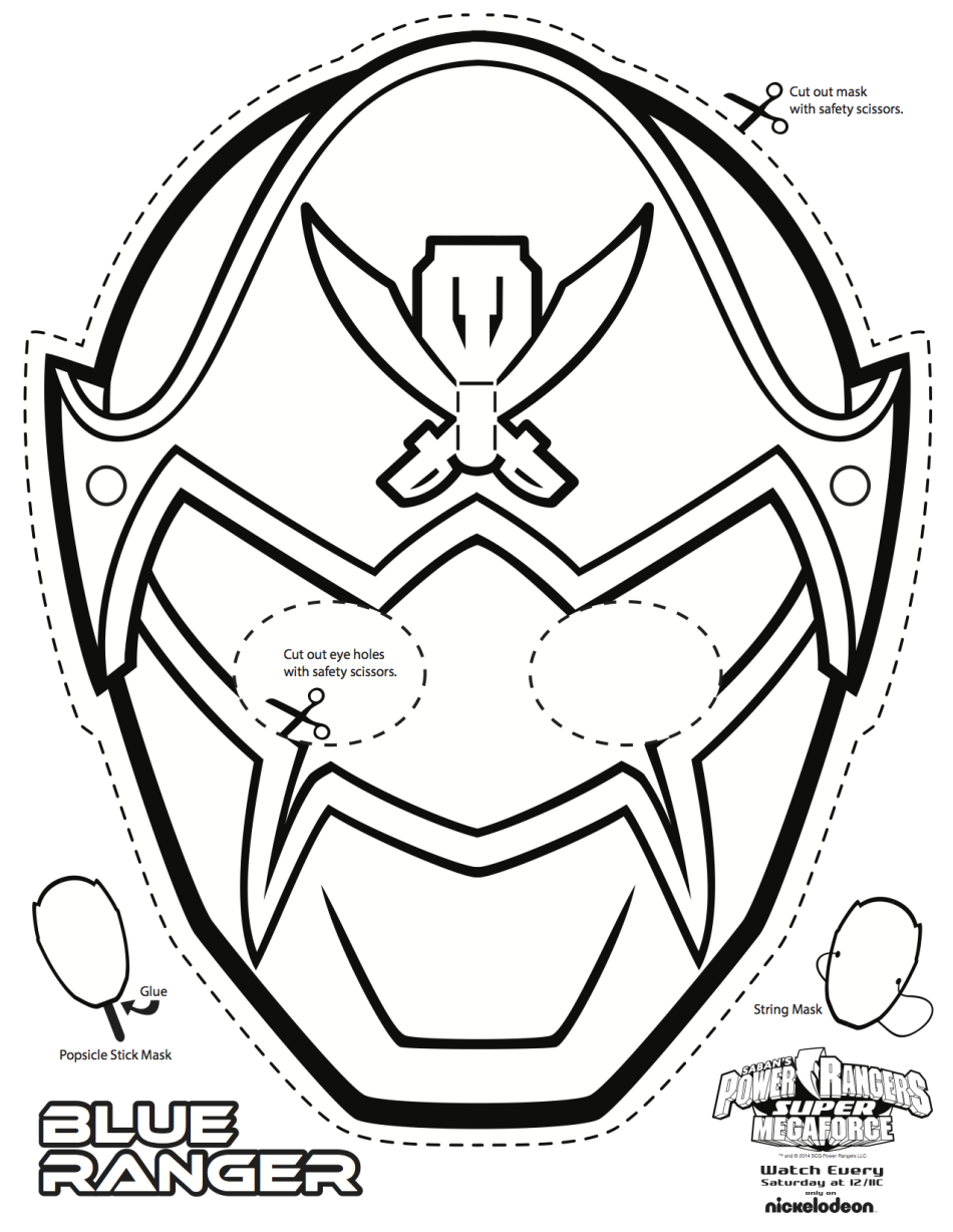 This is a photo of Ambitious Power Ranger Mask Printable
