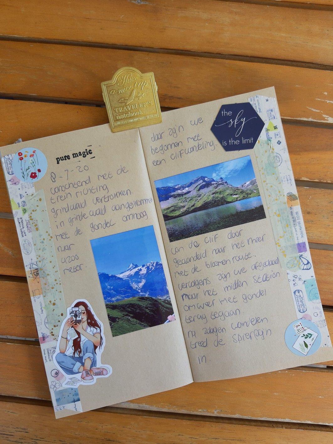 Travelersnotebook  Journaling  Spread