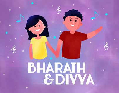 """Check out new work on my @Behance portfolio: """"Save the Date - Bharath and Divya""""…"""