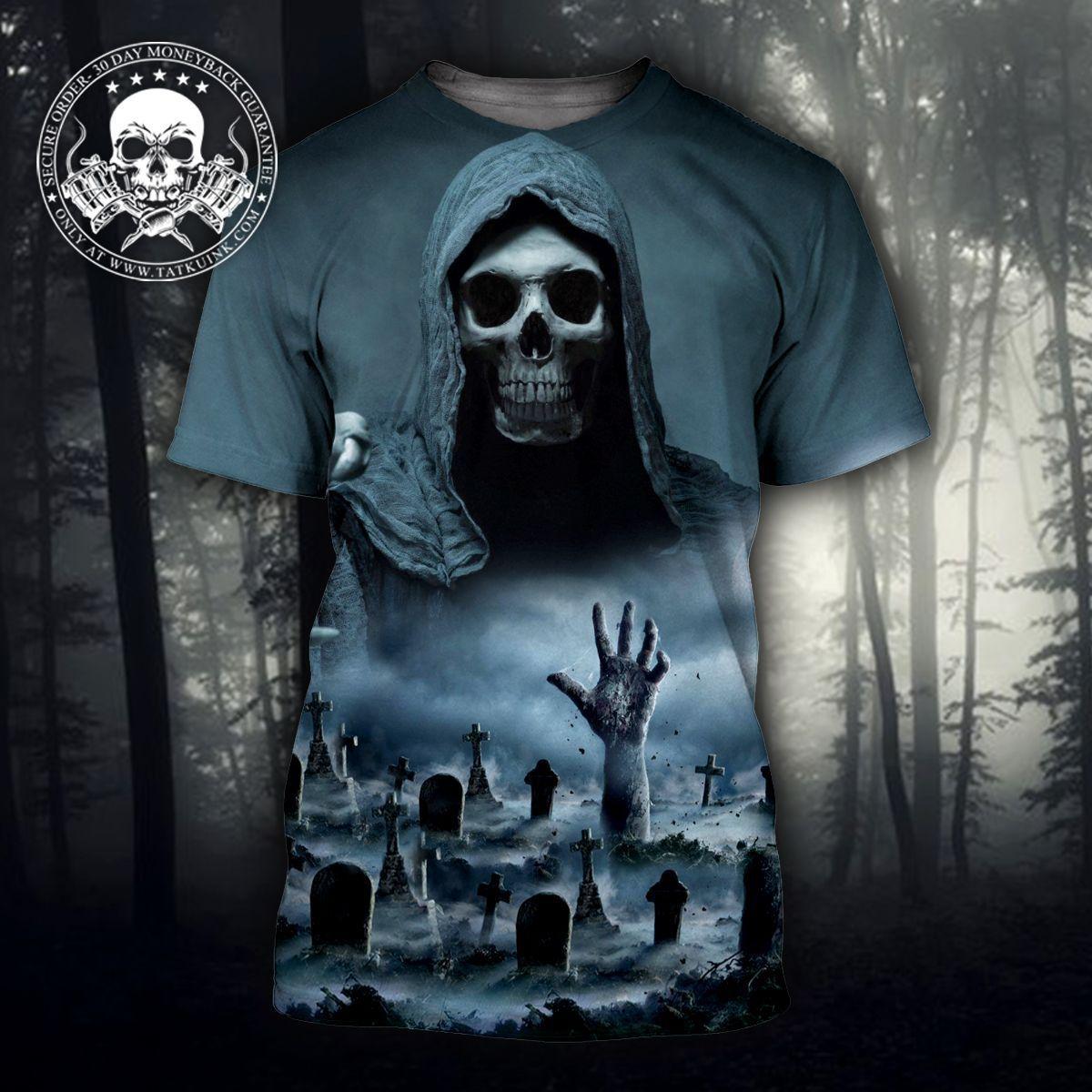 Death 3D Skull Tees & Hoodies - 3D T-SHIRT / XL