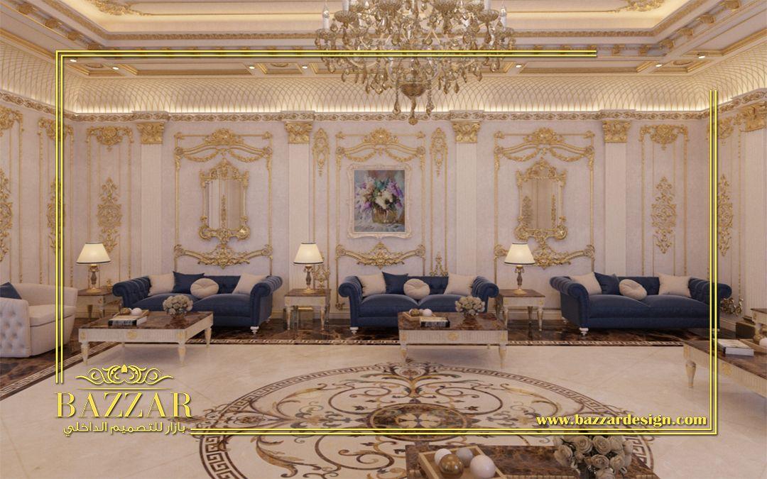 مجلس رجال كلاسيك تم استخدام البانوهات وكرانيش السقف المدهبة لاعطاء نوع من الفخامة للمكان كما تم الاعتماد على ال Luxury Design Luxury Design Print Market Design