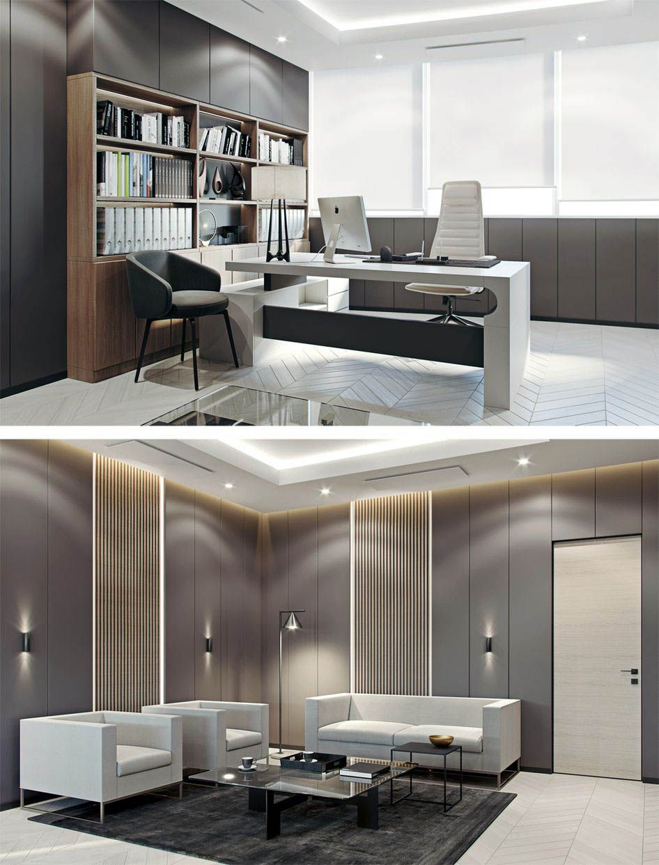 Cozy Modern Home Office Study For Your Home Office Furniture Design Modern Office Design Home Office Design