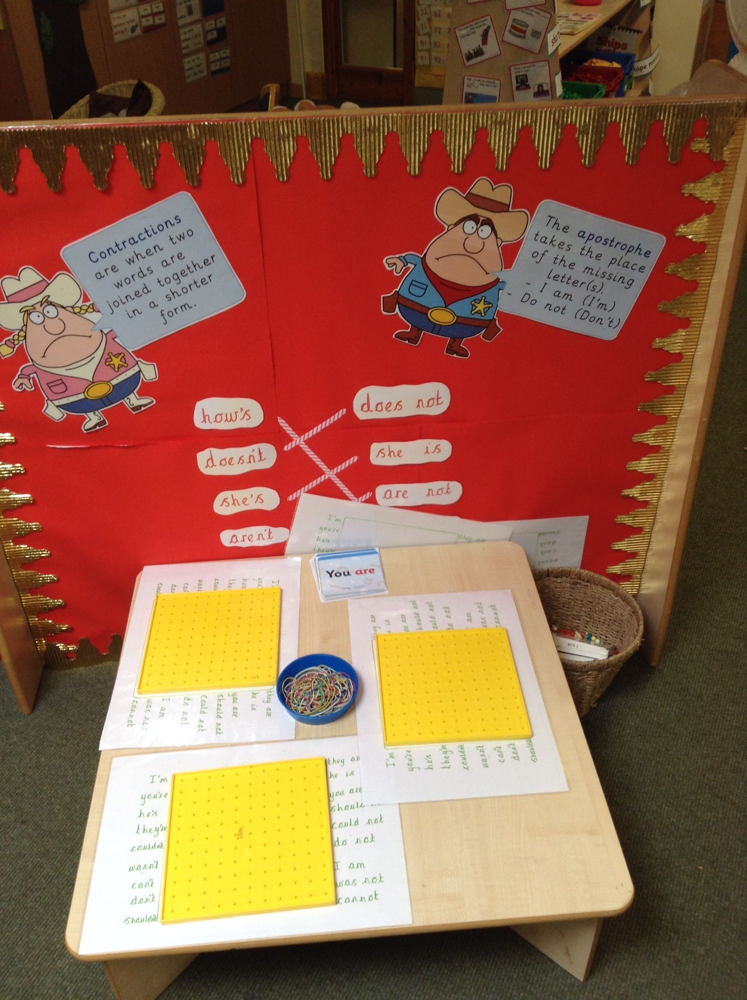 Interactive Contractions Display
