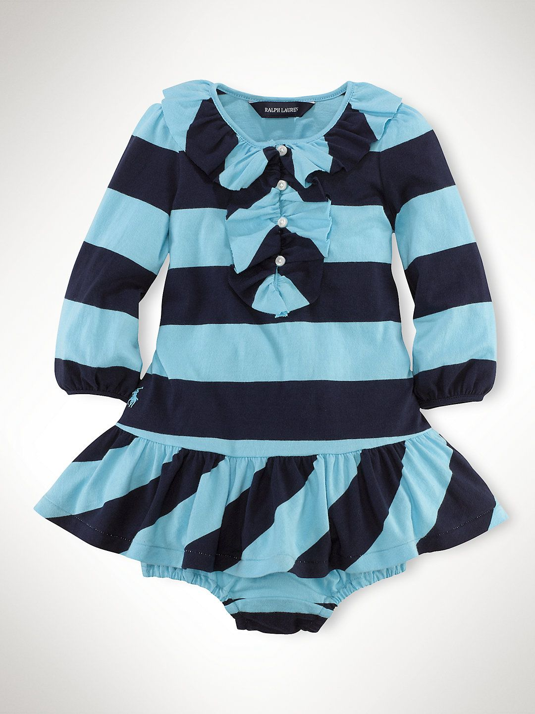 Cotton Rugby Striped Dress - Dresses & Rompers Infant Girl (9M-24M ...