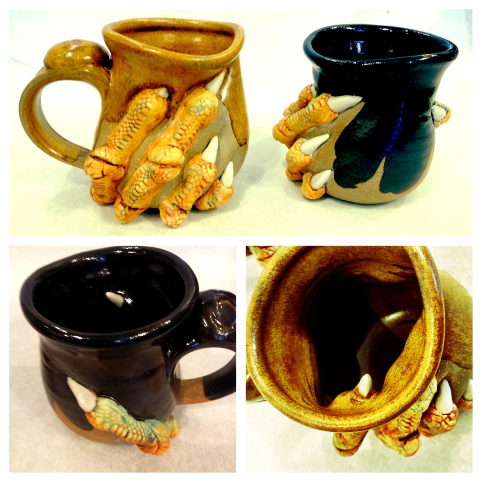 Dragon Claw mugs by Coover! Visit us online at www.differentdrummerri.com