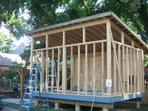 Building a slanted shed roof for the home in 2018 for How to build a sloped roof shed