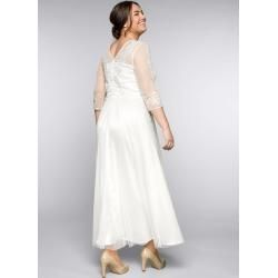 Photo of Large sizes: evening dress with lace applications in corsage look, off-white, size 54 Sheego
