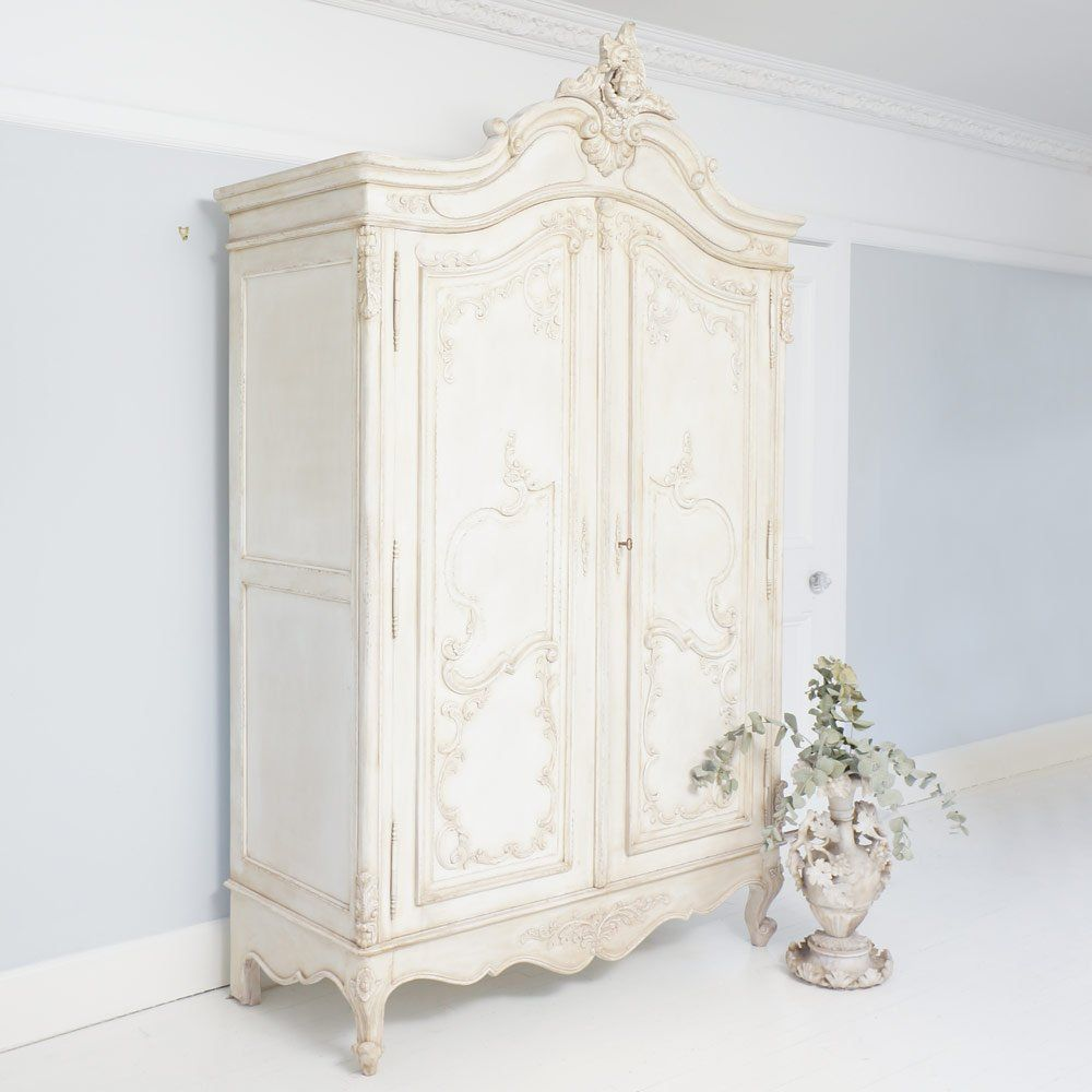 white wood wardrobe armoire shabby chic bedroom. Delphine Distressed Shabby Chic Armoire. French ArmoireFrench BedroomsFrench FurnitureFrench White Wood Wardrobe Armoire Bedroom