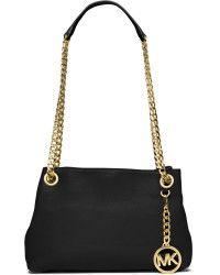 4800da7a7688 MICHAEL Michael Kors Jet Set Chain Crossbody Bag black - Lyst