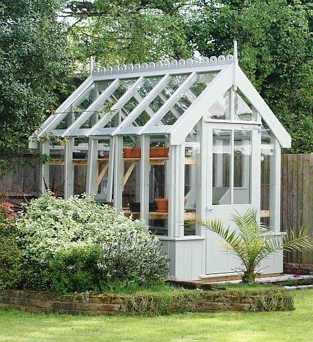 Victorian greenhouse garden pinterest victorian for Victorian garden shed designs