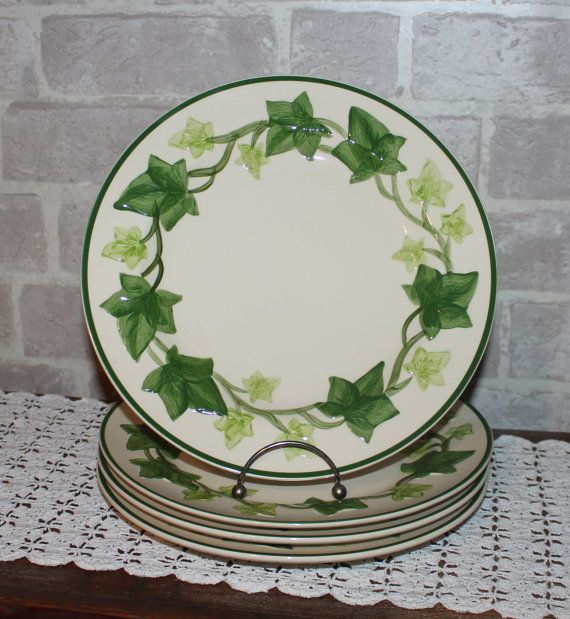 Franciscan Ivy dinner plates 10.25 inches set of 4 by Prettydish & Franciscan Ivy dinner plates 10.25 inches set of 4 by Prettydish ...