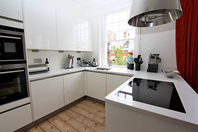 white g shaped kitchen from lwk kitchens g shaped kitchen white gloss kitchen kitchen design on g kitchen layout design id=86537