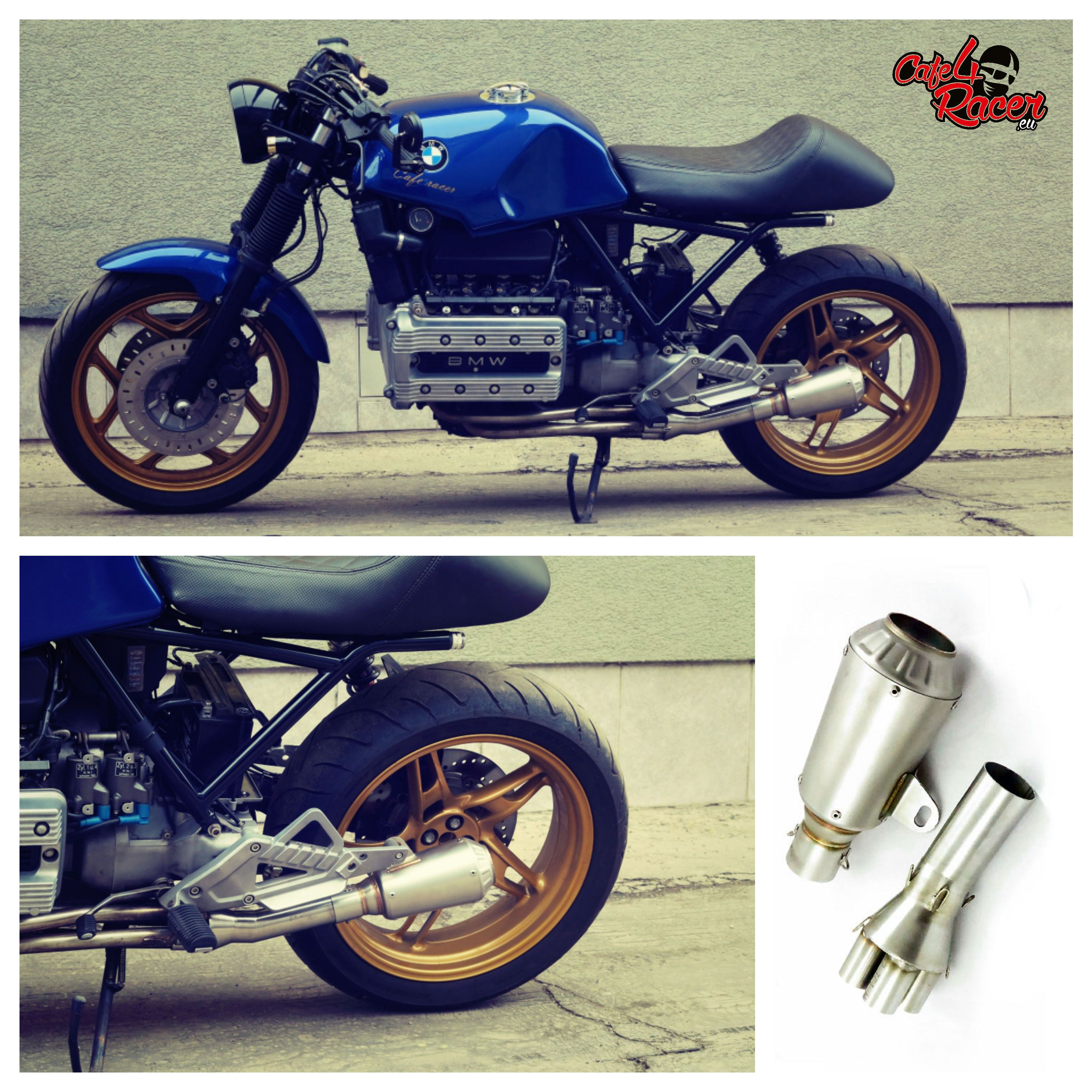 bmw k100 muffler caferacer exhaust bmw bmw bmw. Black Bedroom Furniture Sets. Home Design Ideas