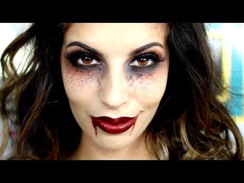 Last Minute Halloween Vampire Makeup Tutorial , YouTube