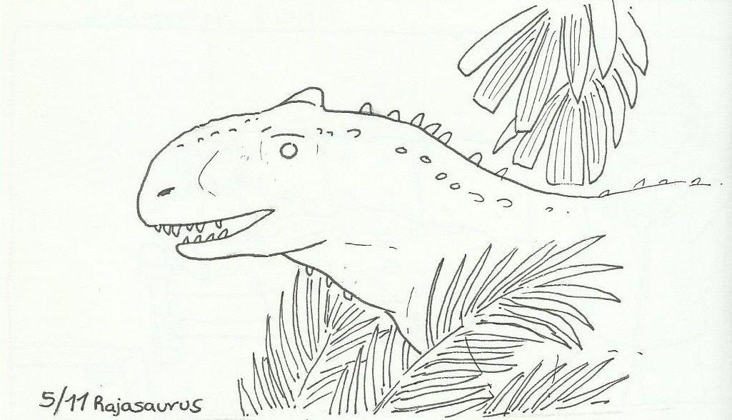 Dracandnau: Rajasaurus for @a-dinosaur-a-days dinovember list. - #@a-dinosaur-a-day's #dinovember #dracandnau: #list. #Rajasaurus
