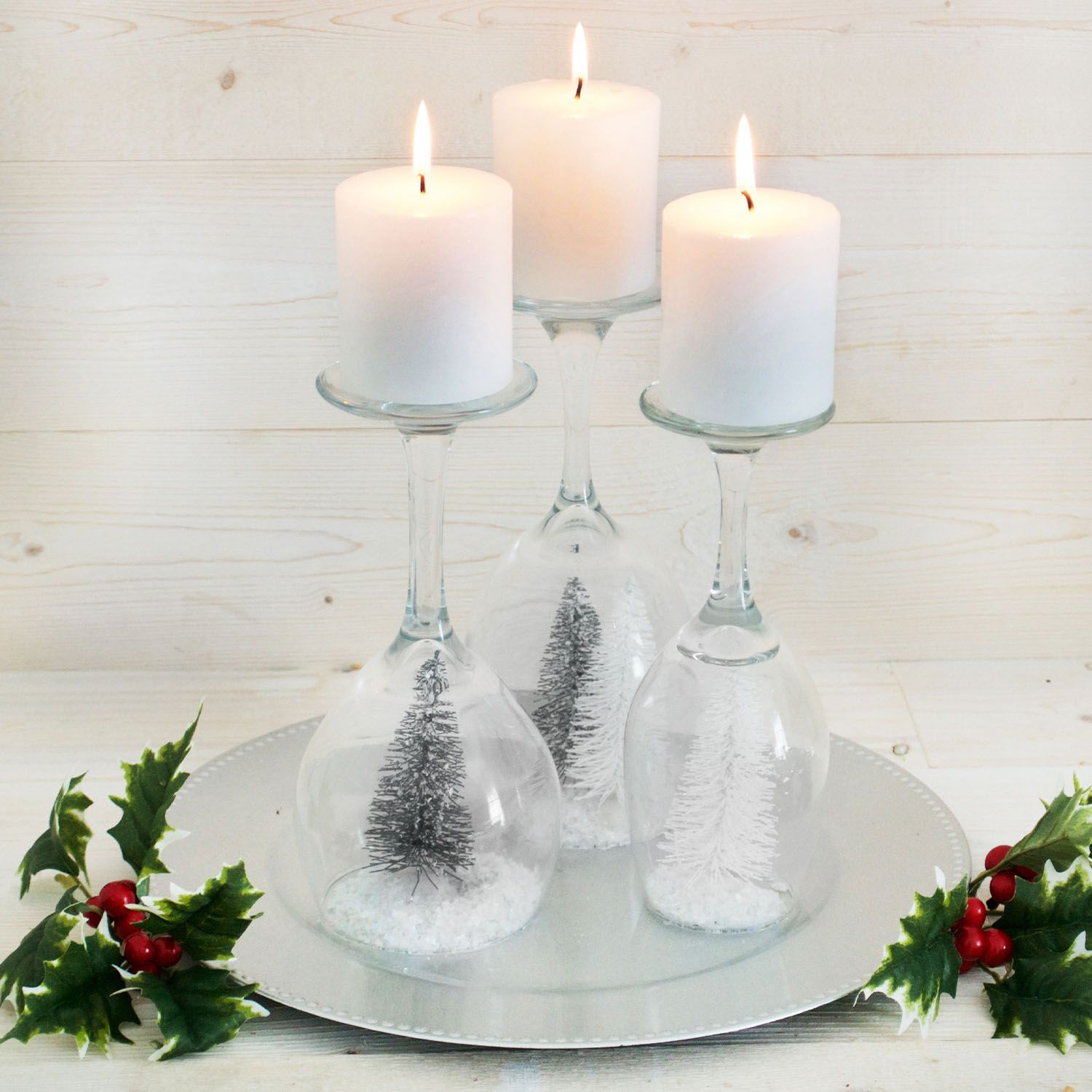 Christmas Candleholder Snow Globes Dollar Tree's Loyalty