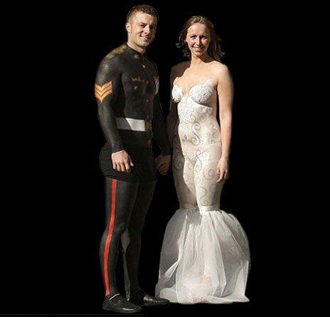 Painted On Wedding Dress