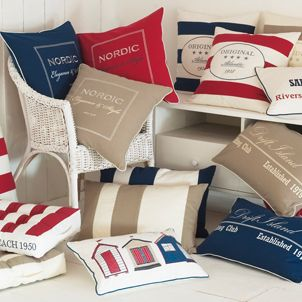ACHICA | Newport Beach Collection.  I have some of these cushions, they are lush!
