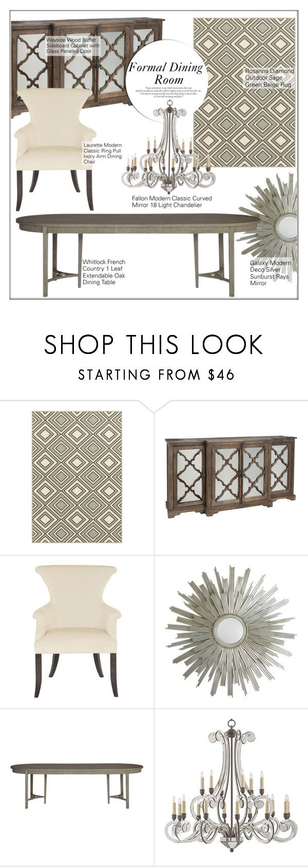 """""""Formal Dining Room"""" by kathykuohome ❤ liked on Polyvore featuring interior, interiors, interior design, home, home decor, interior decorating, dining room, diningroom, Home and homeset"""