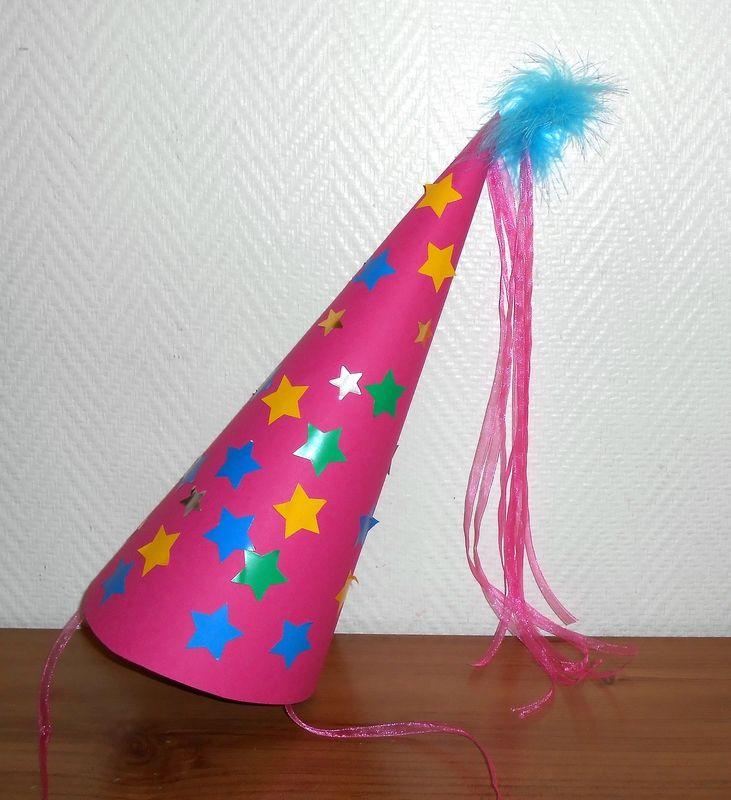 chapeau princesse fee deguisement carnaval chateau fille enfants activite manuelle bricolage. Black Bedroom Furniture Sets. Home Design Ideas