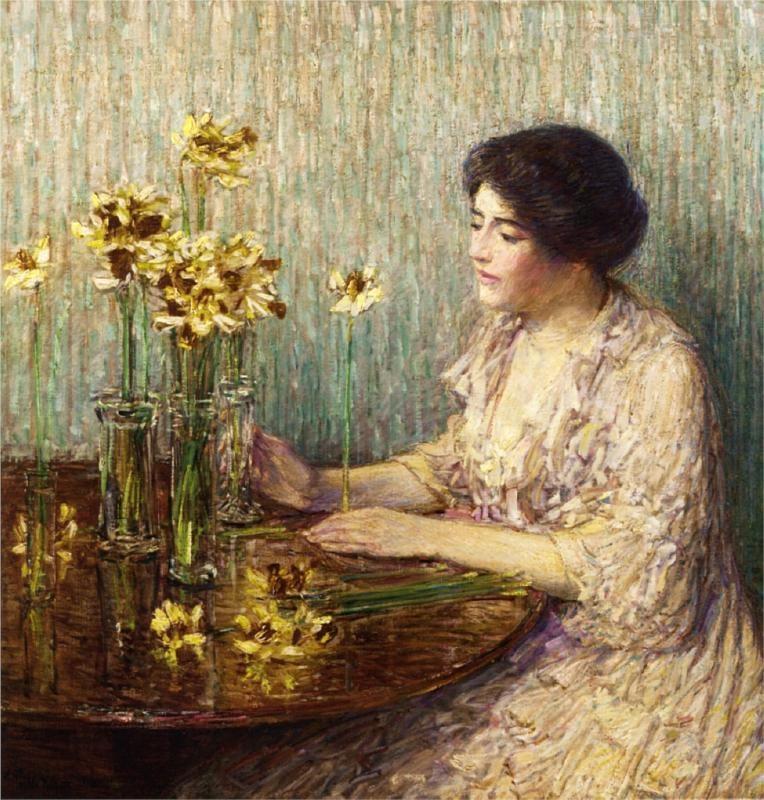 Jonquils -1902  by Childe Hassam (1859-1935)