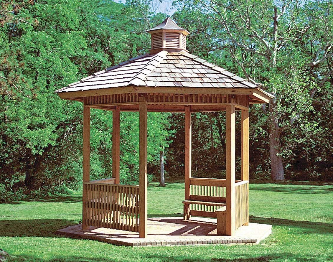 Wood Single Roof Orchard Hexagon Pavilions Pavilions By Shape