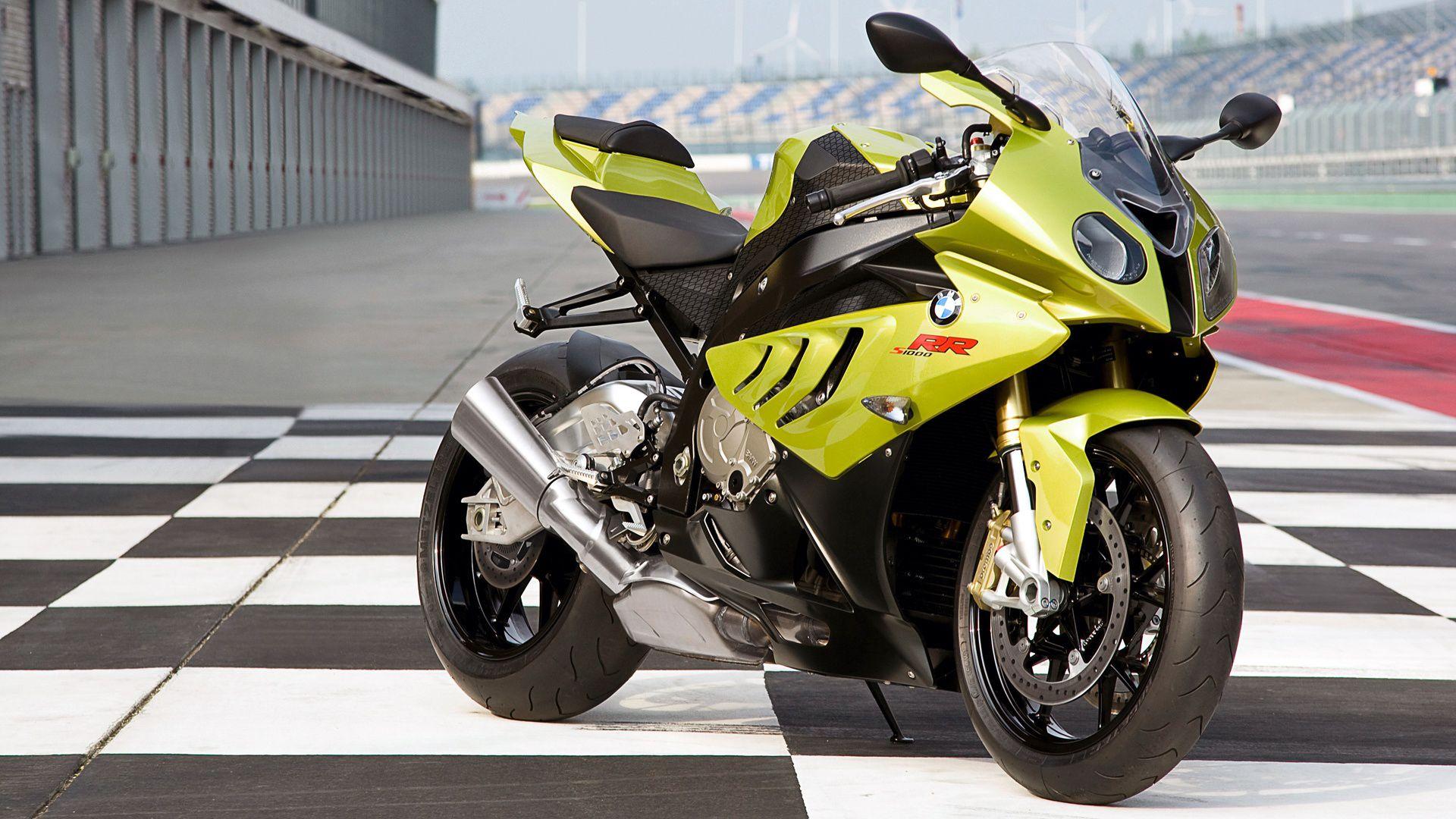 Yellow bmw sports bike hd wallpaper for desktop backgrounds