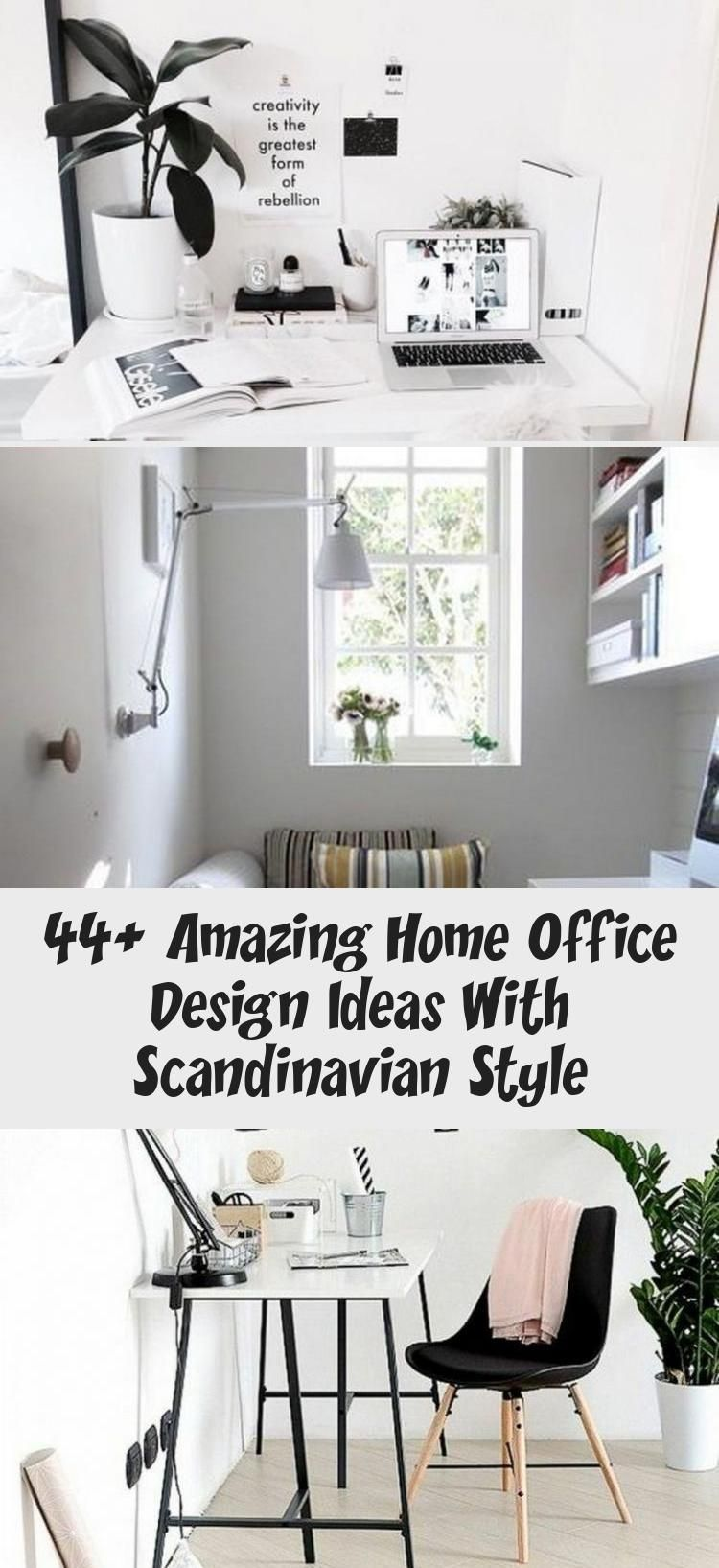 44 Amazing Home Office Design Ideas With Scandinavian Style 44 Amazing Home Office Design Ideas Wit In 2020 Home Office Design Office Design Scandinavian Style Home