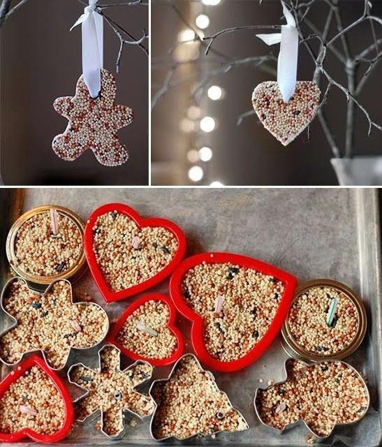Diy bird seed ornaments christmas time pinterest bird seed diy bird seed ornaments solutioingenieria Gallery