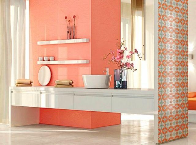 carrelage salle de bain couleur - Recherche Google | deco salle de ...