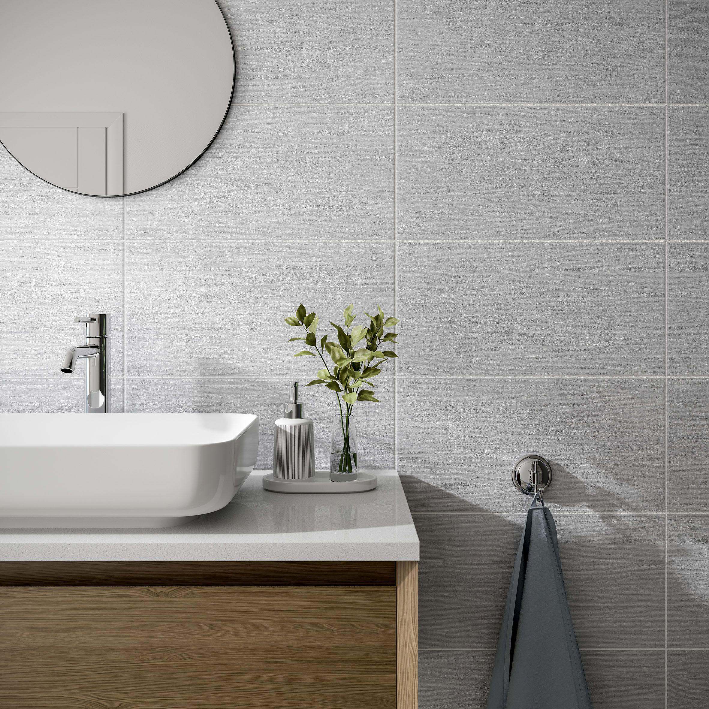 Brecon Grey Grey Bathroom Tiles Tile Bathroom Gray Bathroom Walls