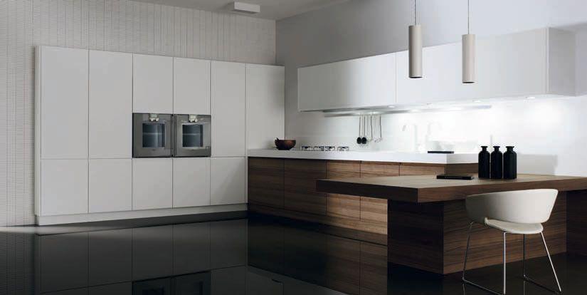 Muebles de cocina minimalistas modelos cusan nogal y for Cocinas blancas modernas 2016