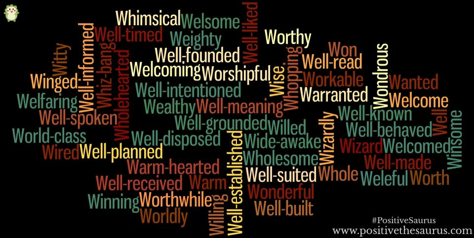 Positive Adjectives That Start With W Positive Adjectives