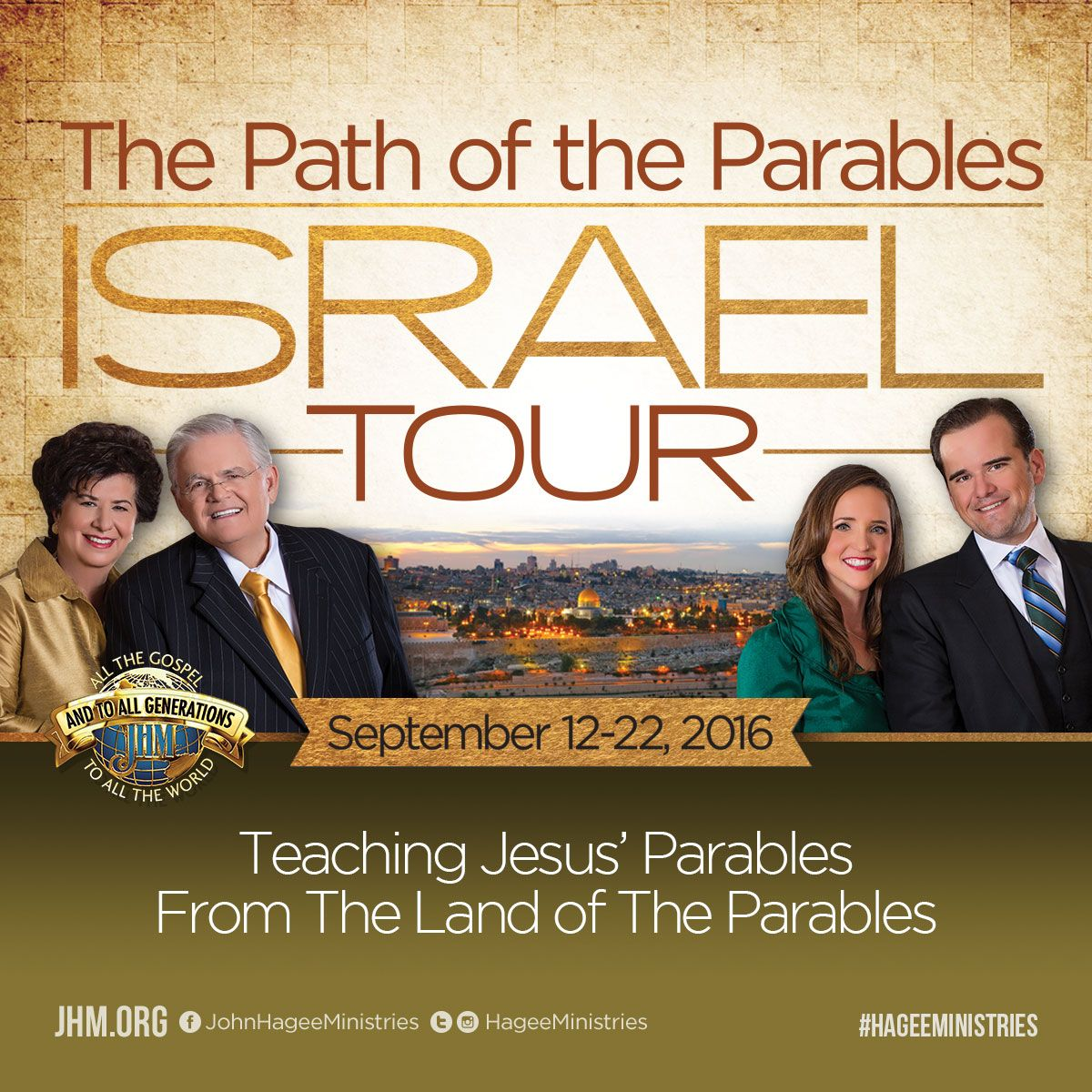 Walk the Path of the Parables and enjoy teachings by Pastor