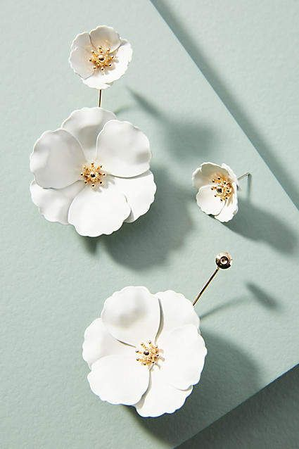 Zenzii Captiva Floral Front-Back Earrings LTYaVElT1