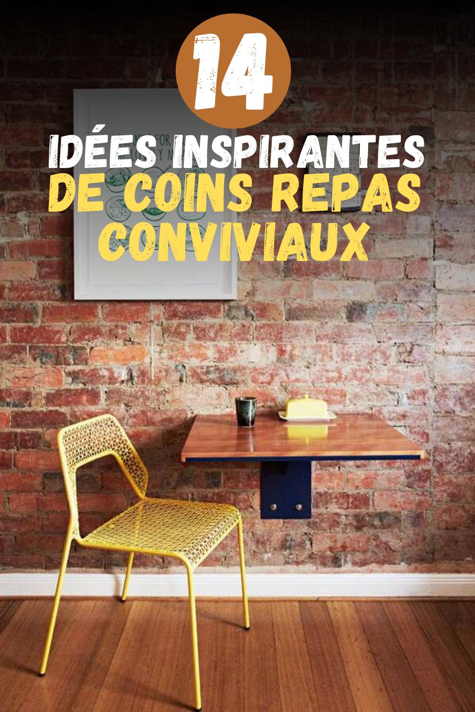 14 Idées inspirantes de coins repas conviviaux aux designs originaux en 2020 | Repas convivial ...