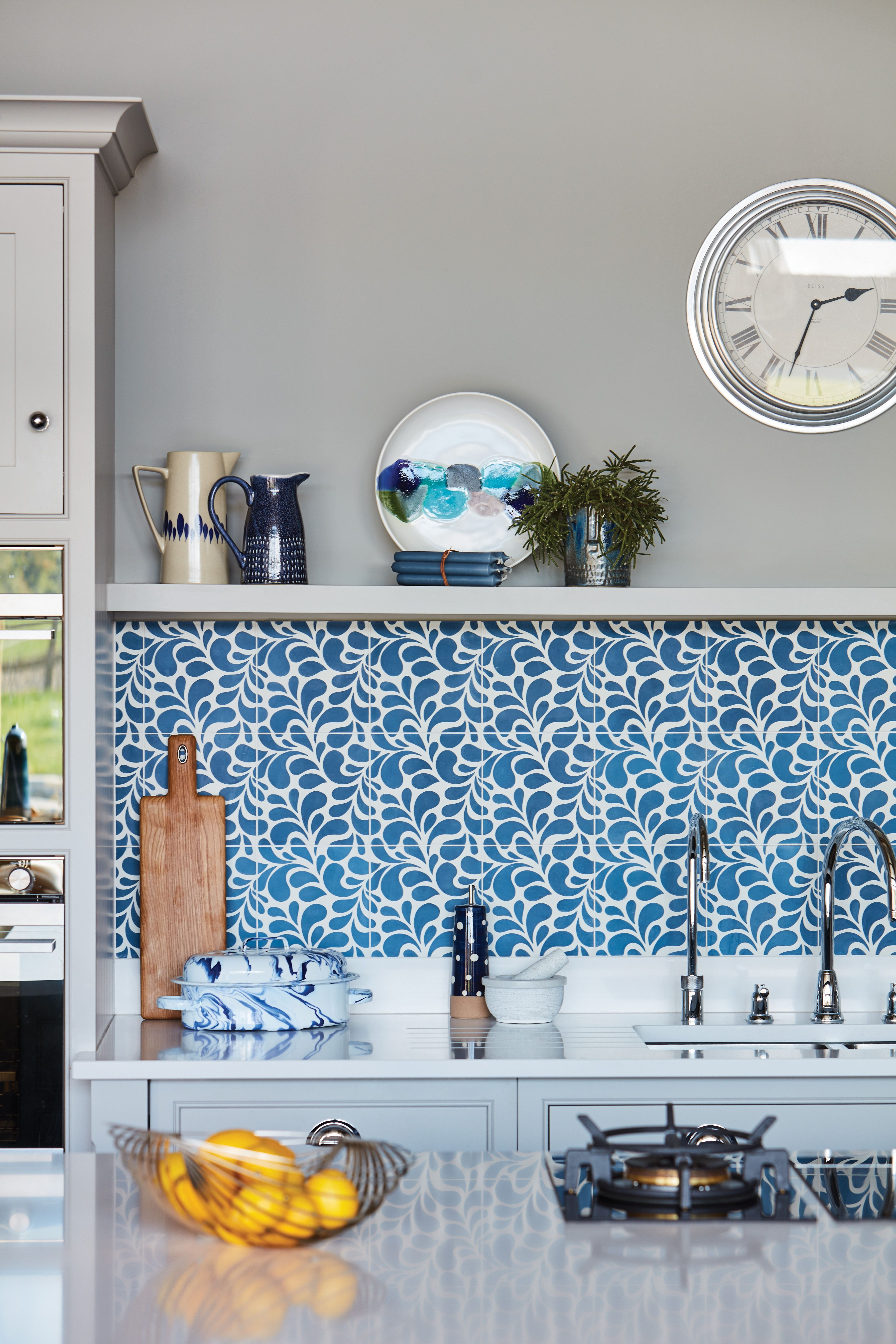 Blue Fitted Kitchen in 2020 Beautiful kitchen designs