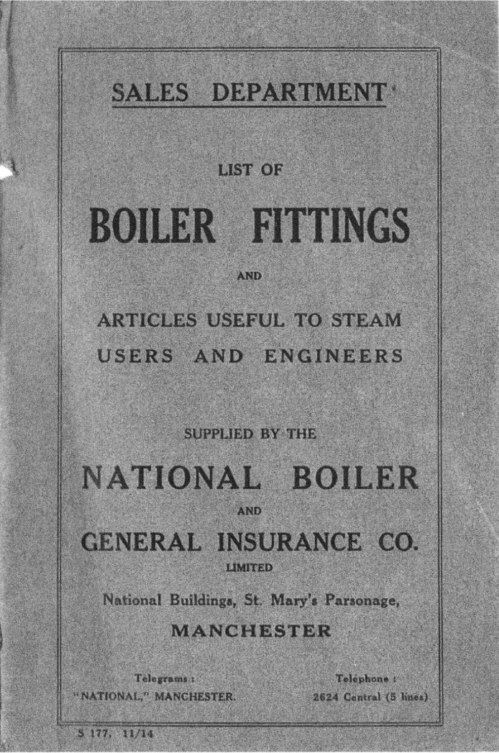 NABIC List of Boiler Fittings 1914 Catalogue Boiler