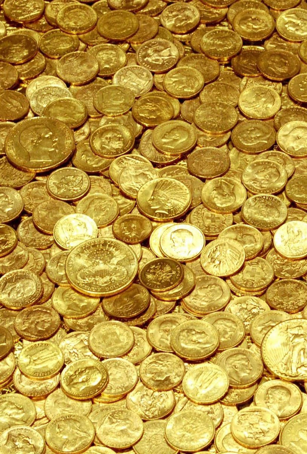 Free Hd Parallax Wallpapers For Iphone Ipad Gold Money Gold Aesthetic Gold Coins