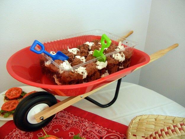 A Farm Themed Baby Shower Dessert, At Diysisters.com