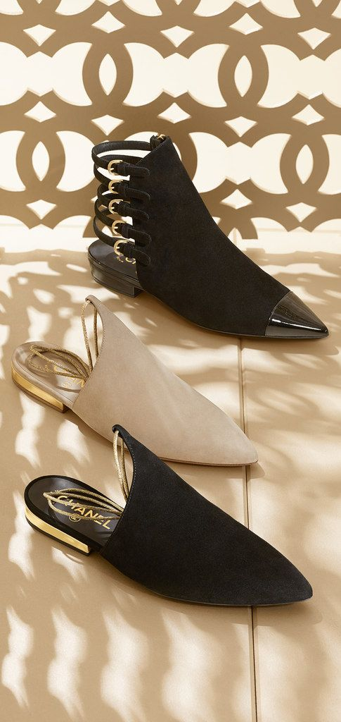 Chanel Kidskin Suede Slippers and Ankle Boots - Cruise Collection 2014 2015 c8fdf41b9c0