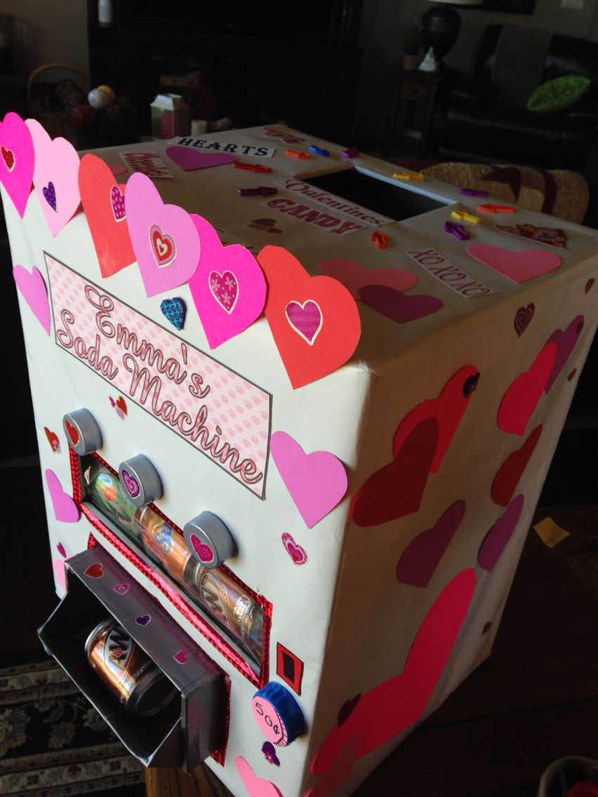 Soda Can Machine Valentine Box. With The New Mini Cans Inside.