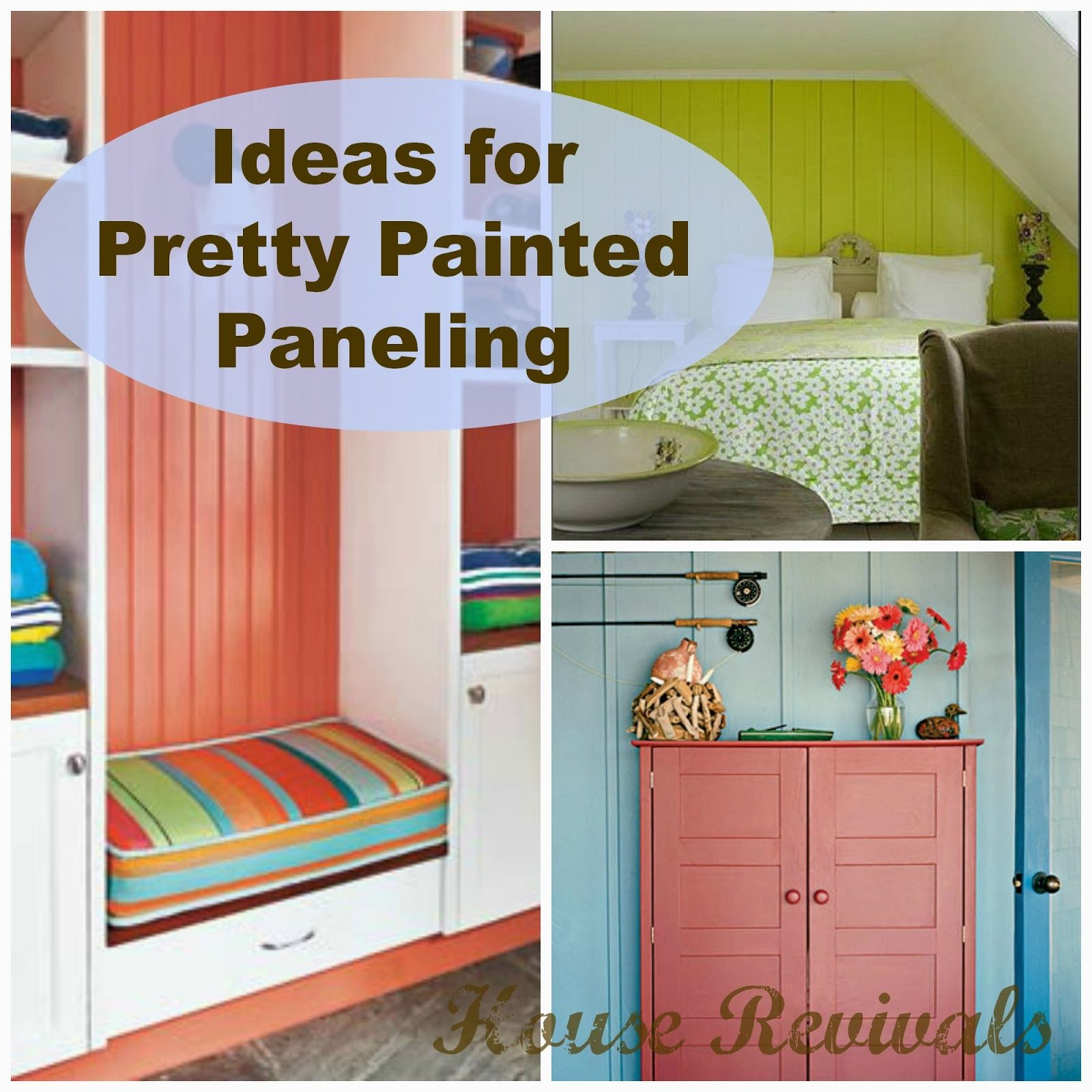 brightly painted furniture. House Revivals: Colorful Painted Paneling Brightly Furniture