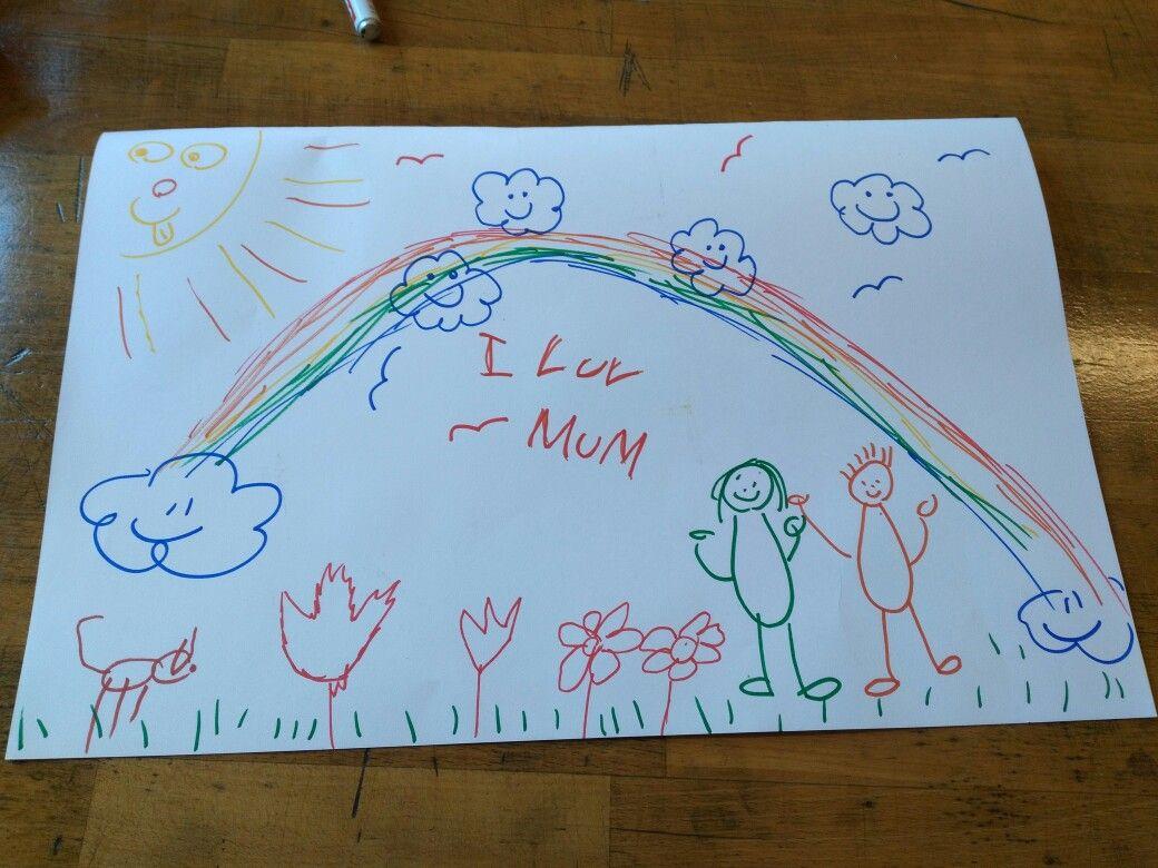 31 augustus: Vandaag was een theorie les. We moesten een kindertekening gaan maken. Ik heb deze tekening samen met Nena en Demi gemaakt