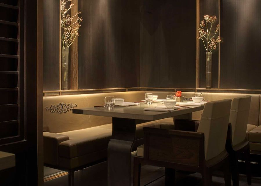 Luxury restaurant dining furniture design hakkasan mayfair