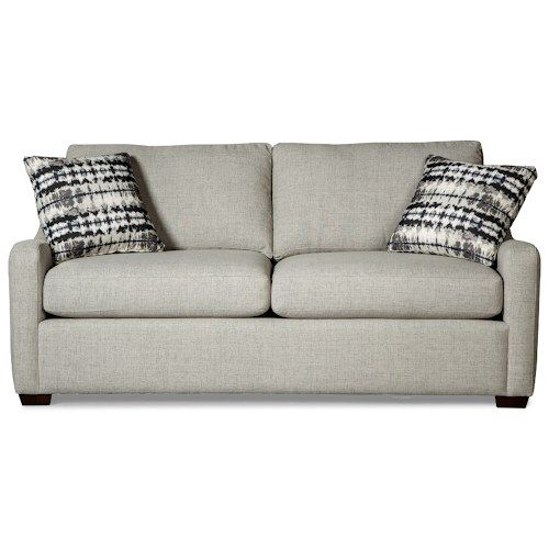 Hickory Craft Casual Small Scale Sleeper Sofa with Memory