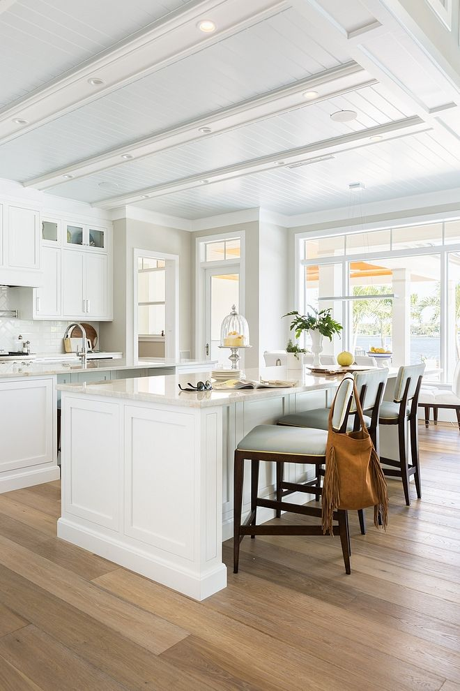 Fresh and breezy kitchen design idea countertop is mystery white marble hamptons kitchens pinterest beach house also rh
