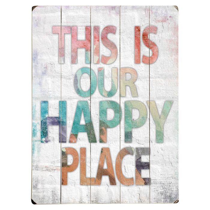 Happy Place Wall Decor.